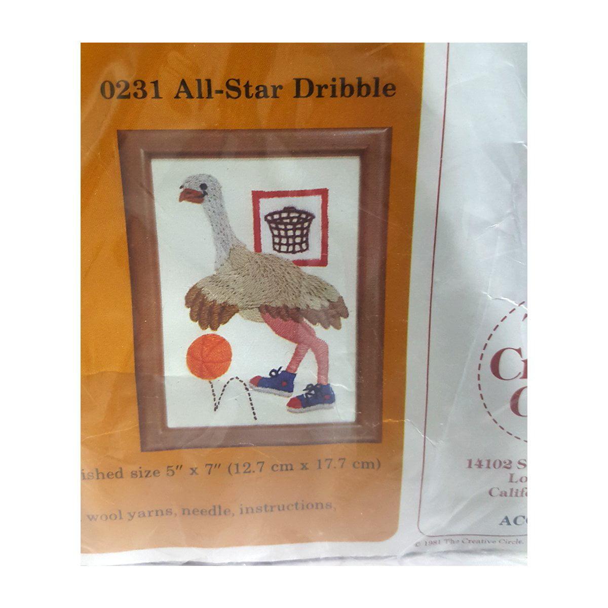 1981 The Creative Circle All-Star Dribble Stitchery Kit No
