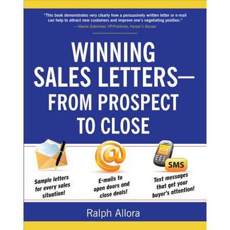 Winning Sales Letters From Prospect To Close Walmart Com