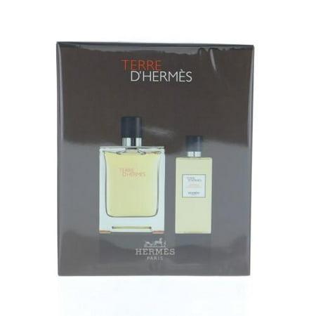 HERMES Terre D'hermes By Hermes 2 Piece Gift Set - 3.3 Oz Eau De Toilette Spray, 2.7 Shower Gel For Men  3.3