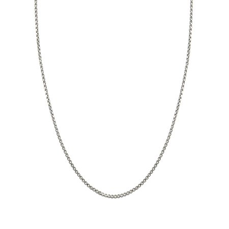 Sterling Silver Medium Weight Box Chain Necklace ()