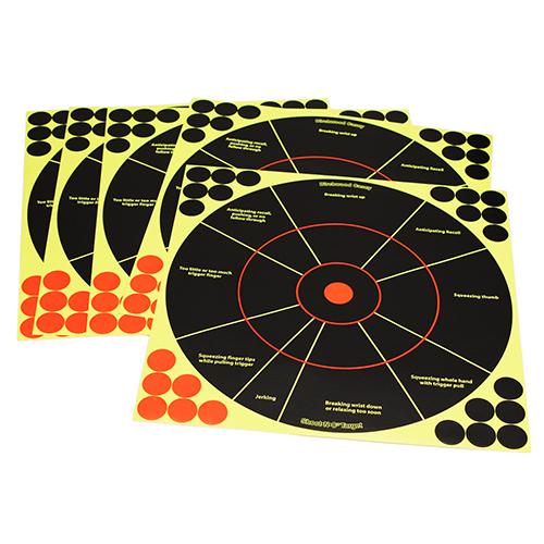 "Shoot•N•C® 12"" Handgun Trainer Target - 5 targets"
