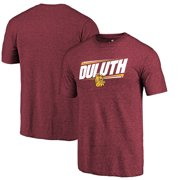 Minnesota Duluth Bulldogs Fanatics Branded Double Bar Tri-Blend T-Shirt - Garnet