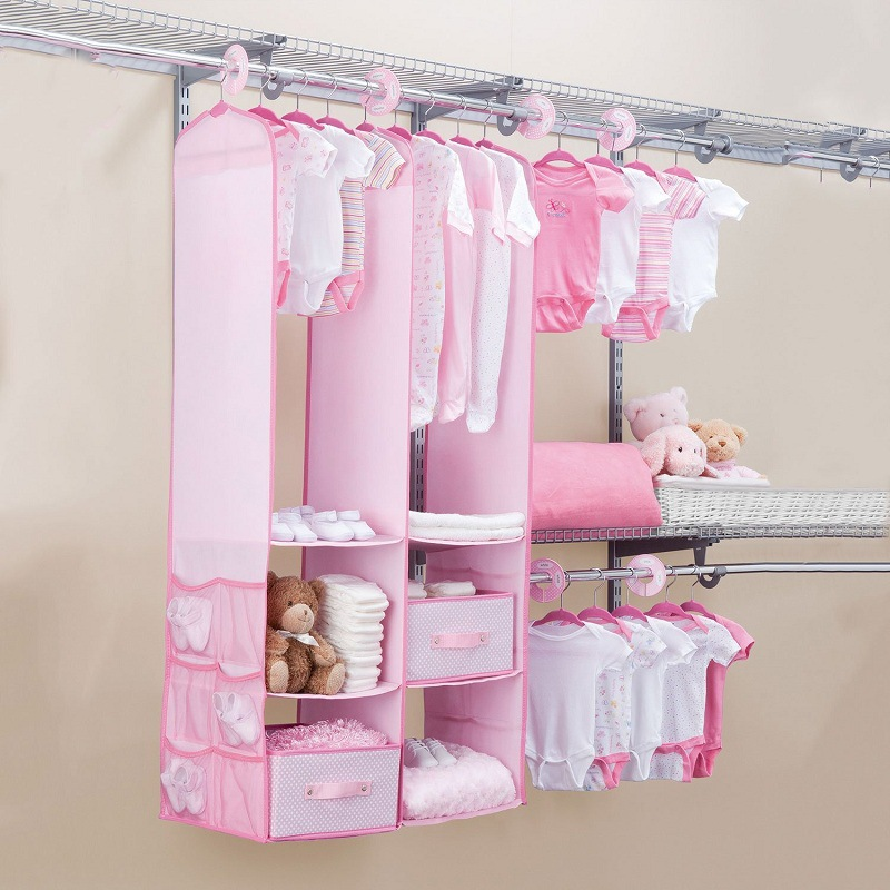 Walfront Baby Nursery Closet Organizer, 24 PCS Children Kids Organizer And  Storage Shelving Units For