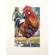"Rooster Of The Walk Counted Cross Stitch Kit-6.75""X9.5"" 18 Count"