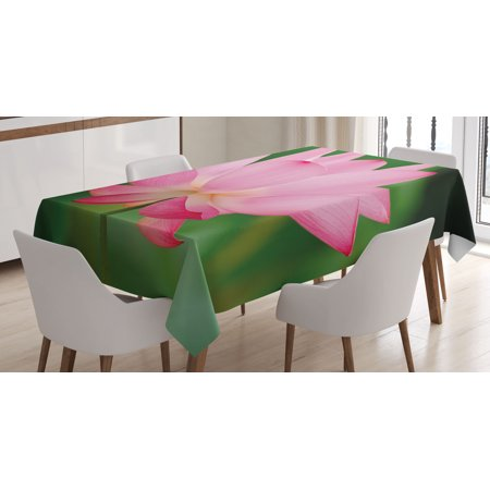 Pink Decor Tablecloth, Flower Decorations Theme Beautiful Lotus Blossom Romantic Digital Print, Rectangular Table Cover for Dining Room Kitchen, 60 X 84 Inches, Pink and Fern Green, by Ambesonne](Cowboy Themed Table Decorations)