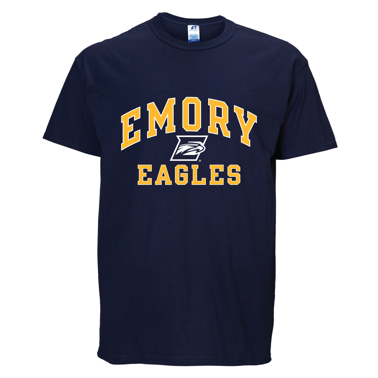 Emory Eagles Adult Arch N' Logo T-Shirt - Navy