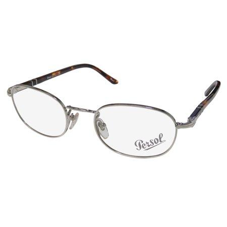 New Persol 2378-V Mens/Womens Oval Full-Rim Silver / Tortoise Designer Comfortable Classy Must Have Frame Demo Lenses 50-20-140 Eyeglasses/Spectacles