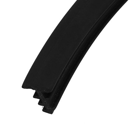 Unique Bargains 4M Long Grade C EPDM Rubber Dual Side Weather Stripping Black for 3.5mm-4mm Gap - image 2 of 3