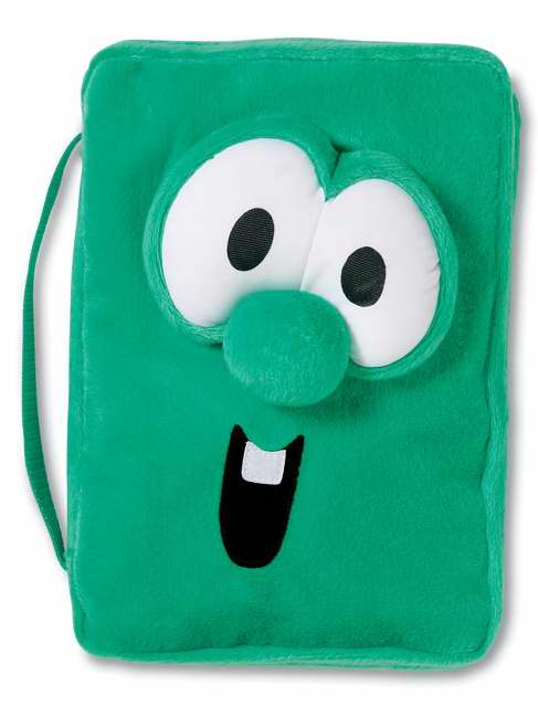 Bible Cover-Veggie Tales Larry Plush-Medium-Green by ZONDERVAN GIFTS