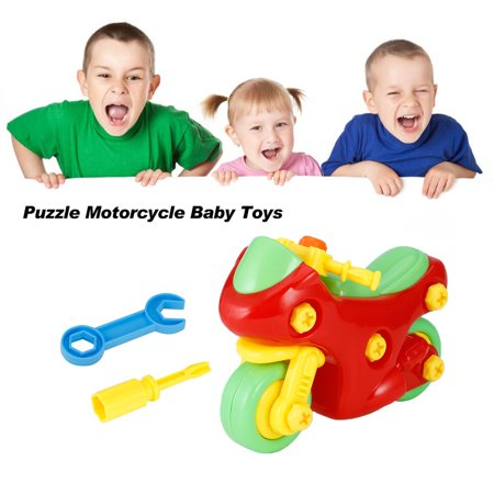 Puzzle Motorcycle Baby Toys Diy Children Cognitive Educational Toys With Screwdriver Disassembling Motorcycle