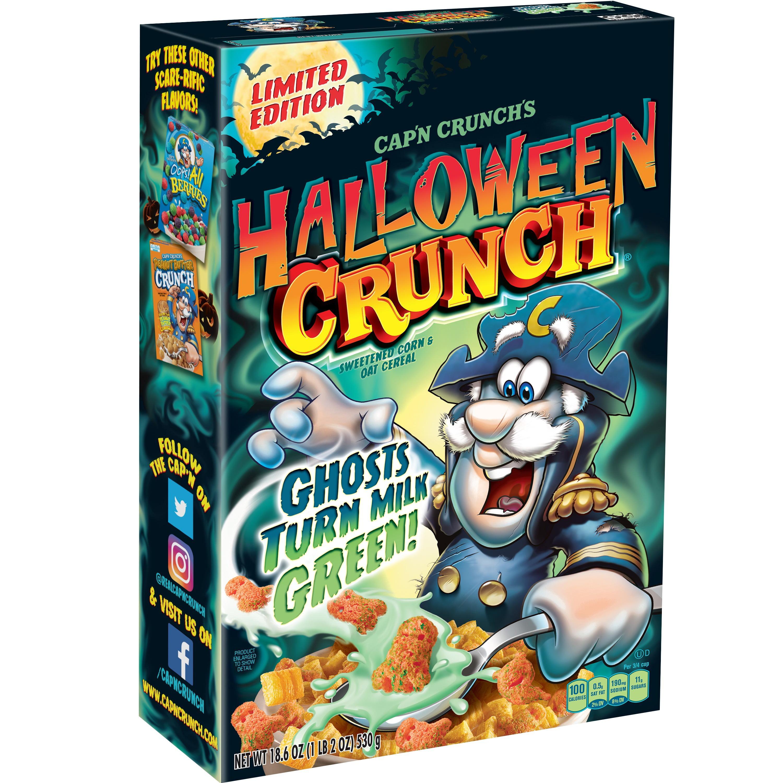 Halloween Crunch 2020 Cap'n Crunch Breakfast Cereal, Limited Edition Halloween Crunch