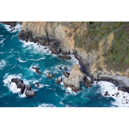 Aerial View of a Coast, Big Sur, Monterey County, California, USA Print Wall Art By Green Light Collection