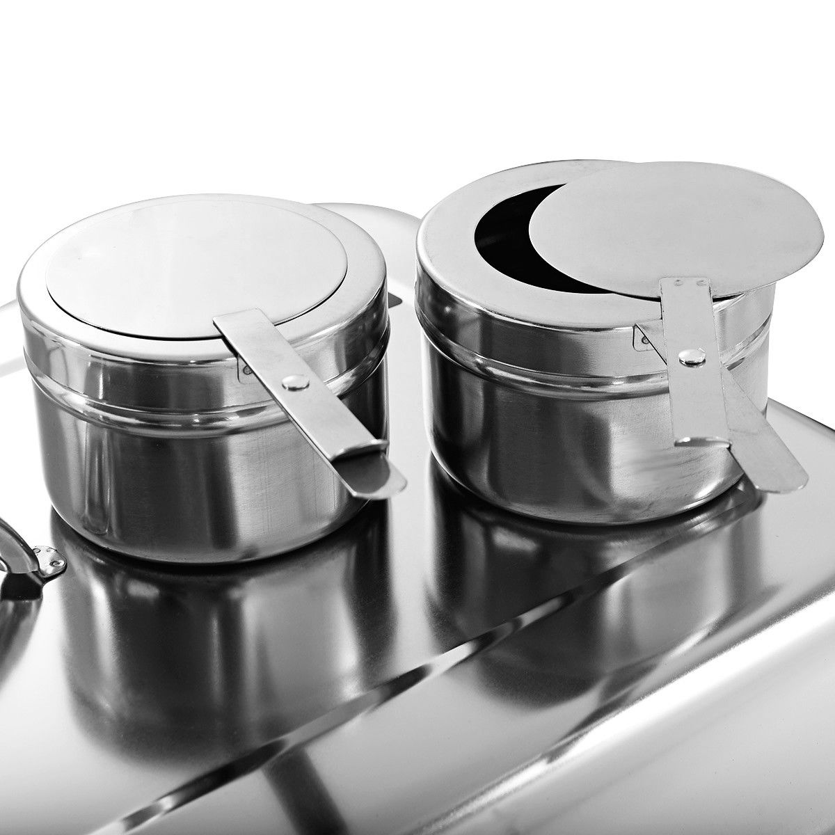 2 Packs Chafing Dish 9 Quart Stainless Steel Rectangular Chafer Full Size Buffet - image 4 of 10