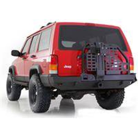 Smittybilt 1984-2001 Jeep Cherokee XJ 2 4 Door XRC Rear Bumper With Hitch Tire Carrier Black Textured