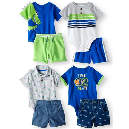 Garanimals Mix & Match Outfits Kid-Pack Gift Box, 8pc Set (Baby Boys) - Easter Baby Boy Outfits
