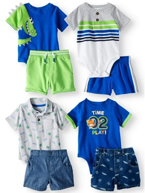Product Image Garanimals Mix & Match Outfits Kid-Pack Gift Box, 8pc Set (Baby Boys
