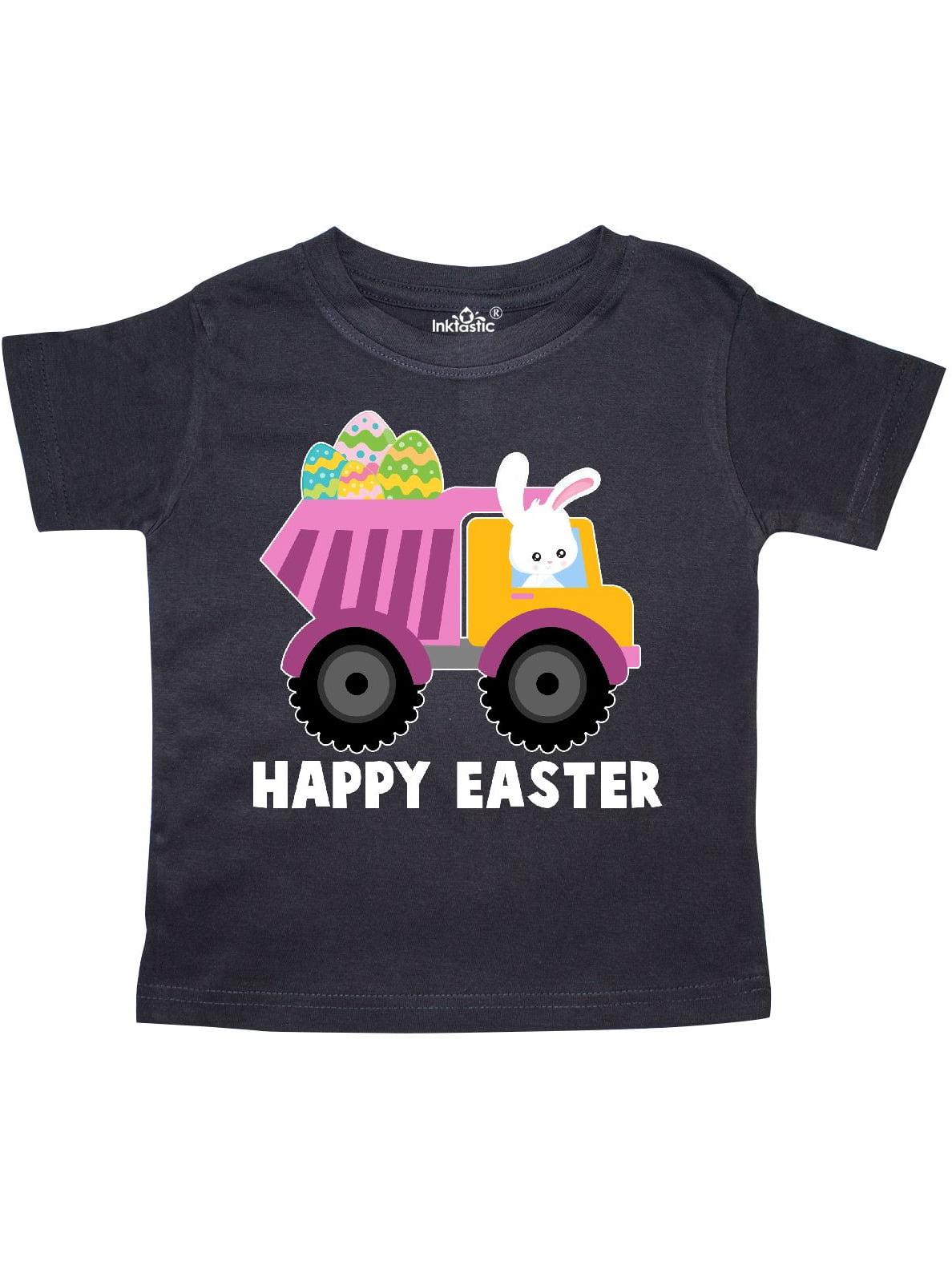 Happy Easter Bunny Delivering Easter Eggs Toddler T-Shirt