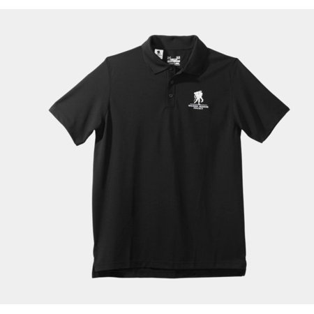 Under Armour 1238978 Mens Black Wwp Performance Polo Shirt   Size Small