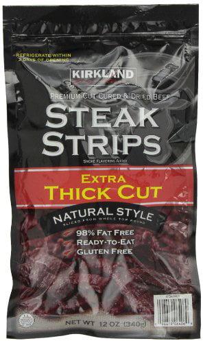 Kirkland Signature Steak Strips Extra Thick Cut, 12 Ounce by Kirkland Signature