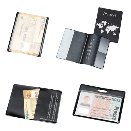 Personal Protection Organizers (Tarifold, Inc. Hidentity Personal Protection Assortment Set, 4 Holders, Clear/Black -TFIH11214)