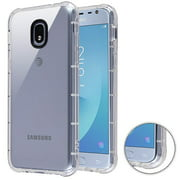 Phone Case for Samsung Galaxy J3 2018, J337, J3 V 3rd Gen, J3 Star, J3 Achieve, Express Prime 3 - Phone Case Clear Shockproof Hybrid Armor Rubber Silicone Gel Cover - Clear
