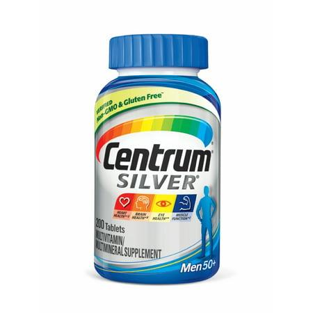 Centrum Silver Men 50  Multivitamin Tablets  200 Ct