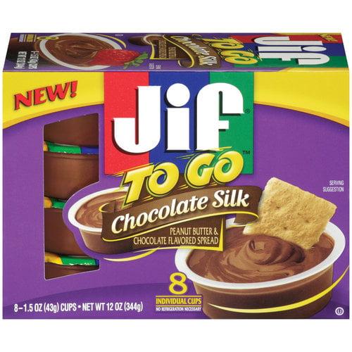 JIF Chocolate Silk Peanut Butter, 8 ct