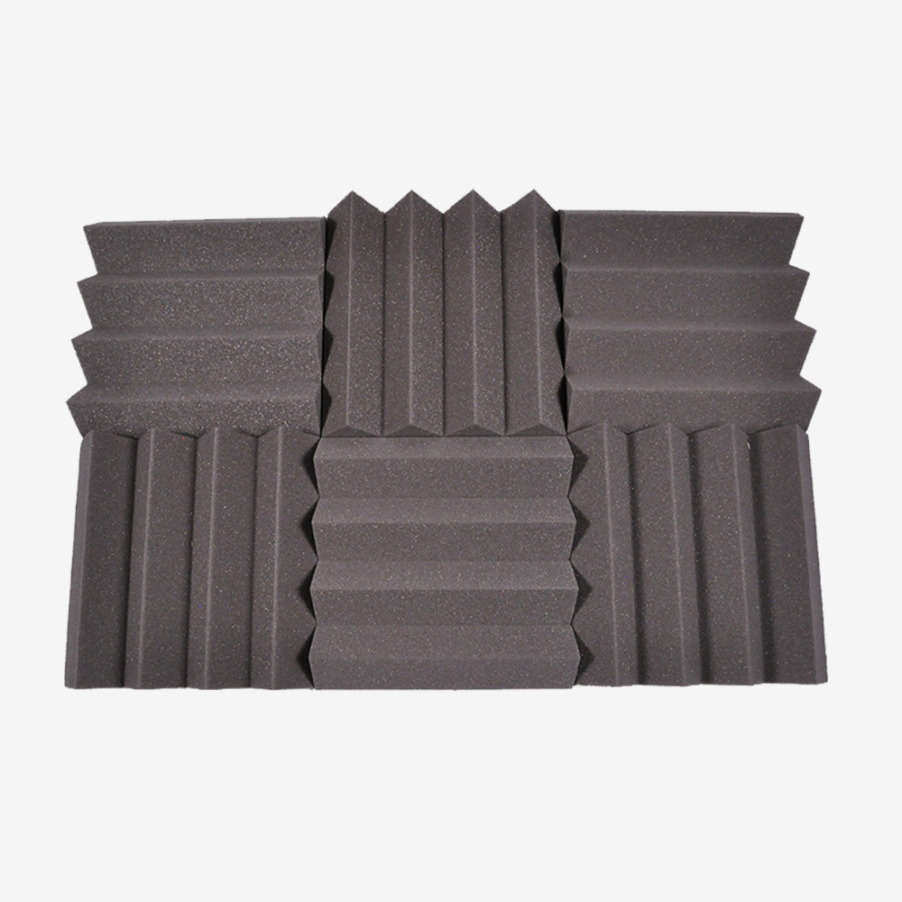 Seismic Audio 6 Pack of Charcoal 3 Inch Studio Acoustic Foam Sheets Sound Absorbing Tiles Charcoal - SA-FMDM3-Charcoal-6Pack