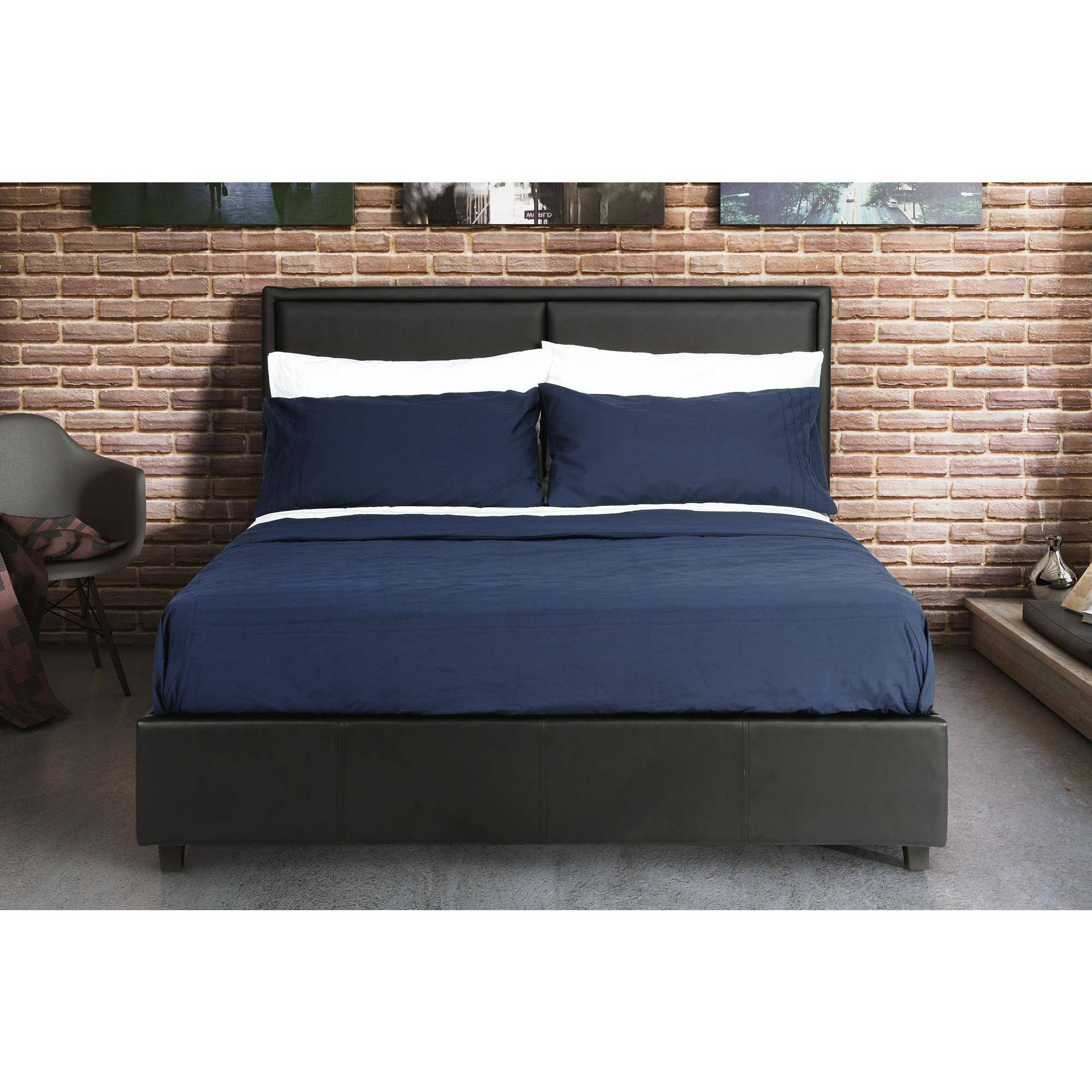 . DHP Bridgeport Faux Leather Bed   Walmart com