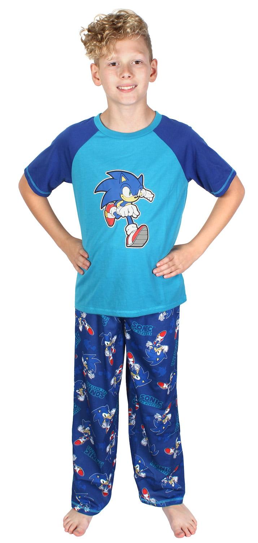 Sonic the Hedgehog - Sonic The Hedgehog Boys Pajamas Two Piece Short Sleeve  Shirt And Long Pants Sleepwear Set - Walmart.com - Walmart.com