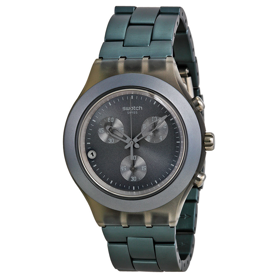 Swatch Grey Dial Stainless Steel Swiss Quartz Mens Watch SVCM4007AG by Swatch