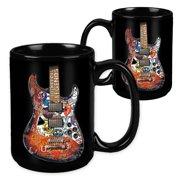 Rock & Roll Legends Guitar - 15 Ounce Sublimation Mug