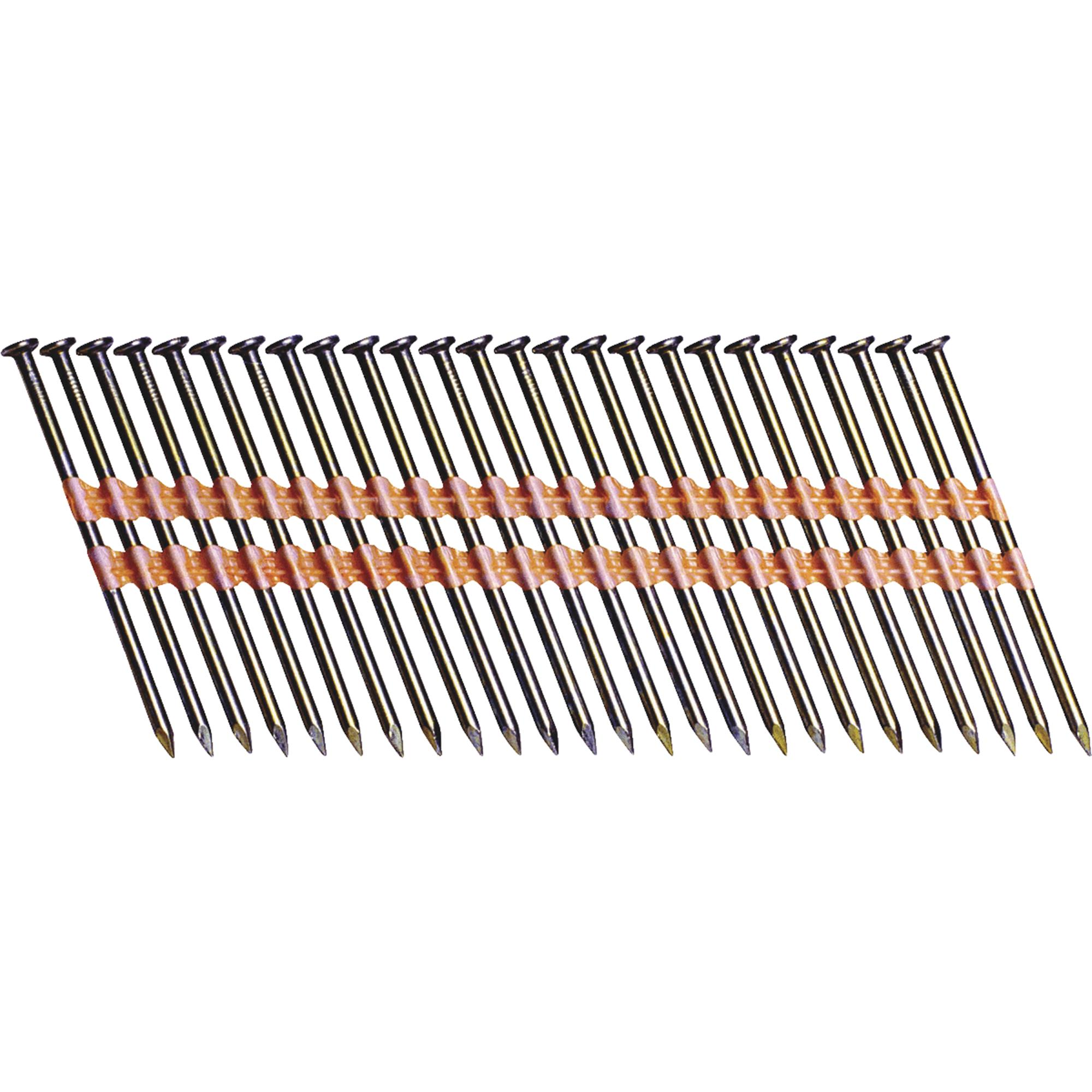 "Grip Rite GR07 2-3/8"" x 0.113"" Vinyl-Coated Steel Bright Smooth Shank Framing Nails, 5,000 Per Box"