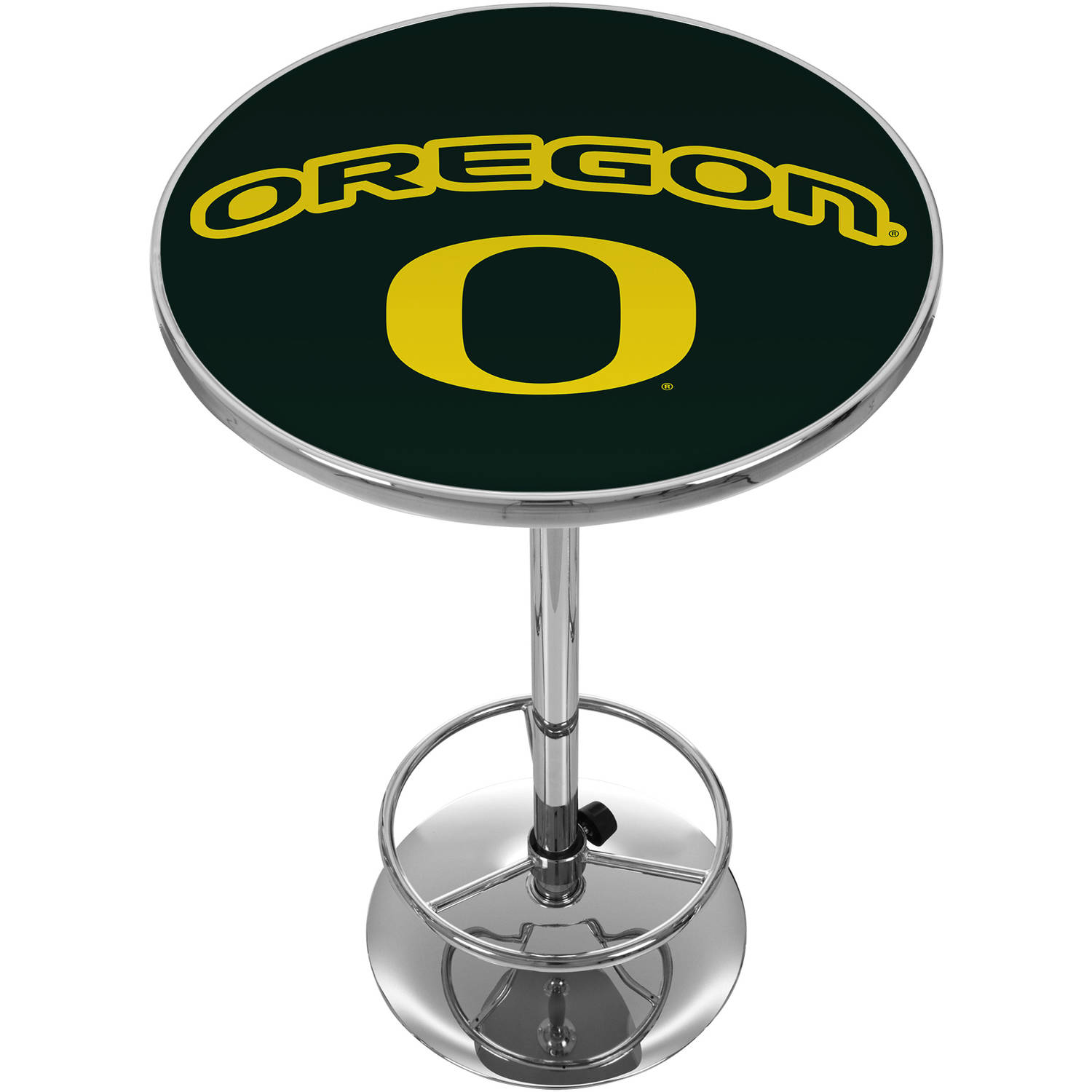 University of Oregon Chrome Pub Table
