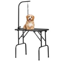 SmileMart Adjustable Pet Dog Cat Grooming Table Professional Foldable Height Drying Table w/Arm & Noose