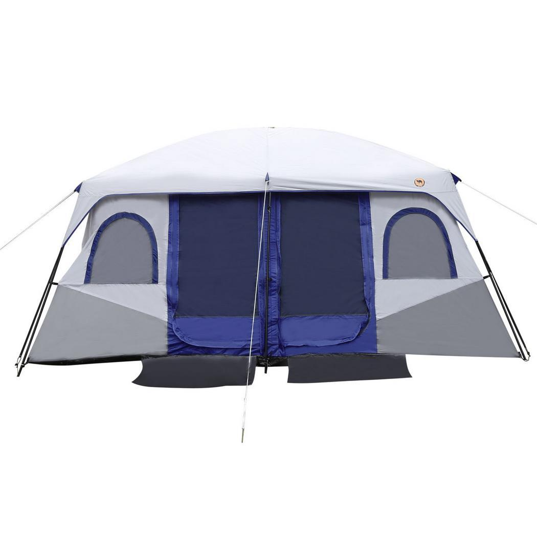 Click here to buy ANCHEER 8-10 Person Waterproof Family Camping Tent 2-Bedroom 1-Living Room, Dual Layer 210D Oxford Cloth Windproof....