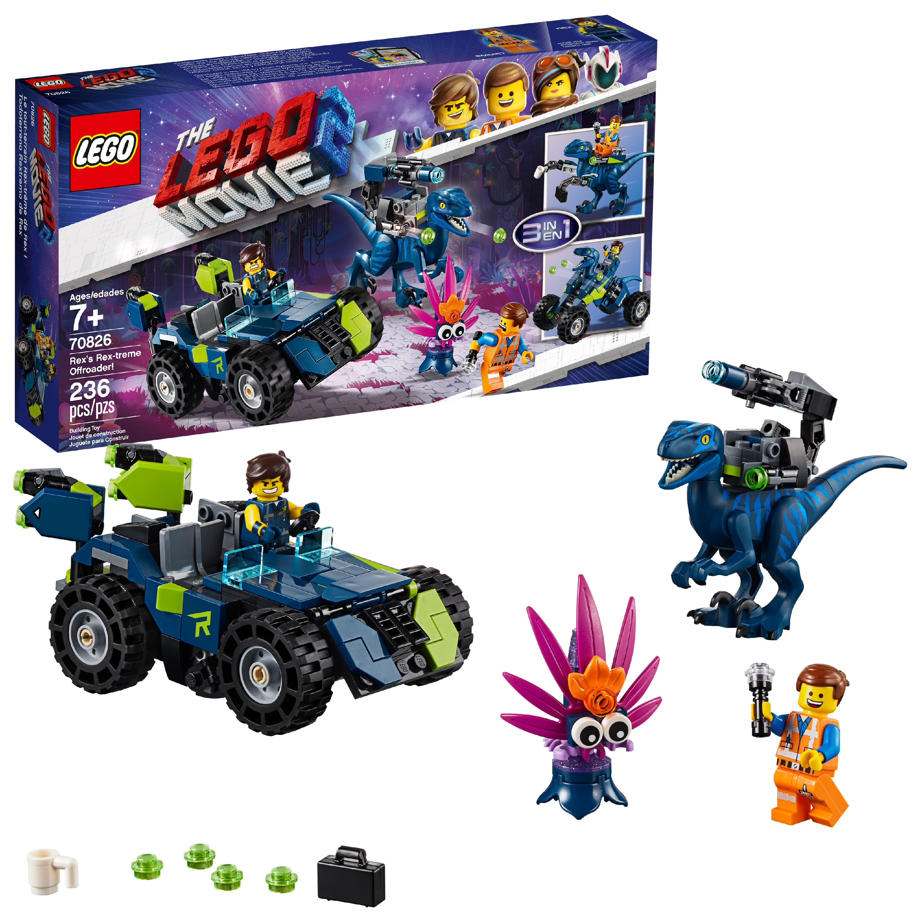 LEGO The LEGO Movie 2 Rex's Rex-treme Offroader! 70826