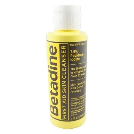 Betadine skin cleanser