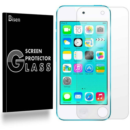 - [2-Pack] iPod Touch 6 (6th Gen) / iPod Touch 5 BISEN Tempered Glass Screen Protector, Anti-Scratch, Anti-Shock, Shatterproof, Bubble Free