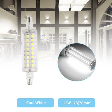 LED Flood Light R7S 78mm Bulb 12W 2835 SMD Replacement Halogen Lamps Warm White/White (Frosted Flood Halogen Lamp)