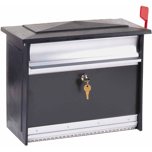 Solar Group Inc MSK0000B Extra-Large Black Mailsafe Lockable Security Mailbox