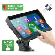 """7"""" Cars Sat Nav GPS Navigation Navigator with Free Maps Touch Screen Built-in 8GB ROM Support FM Radio MP3 MP4"""