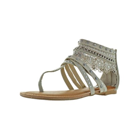 Not Rated Womens Wilma Canvas Ankle Gladiator Sandals