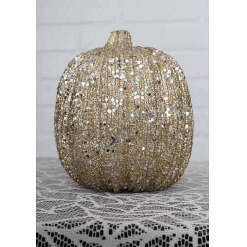 "6"" Champagne Glitter Pumpkin"
