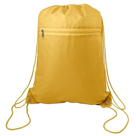 Set of 12 Cinch Sack Drawstring Bags (GOLD)