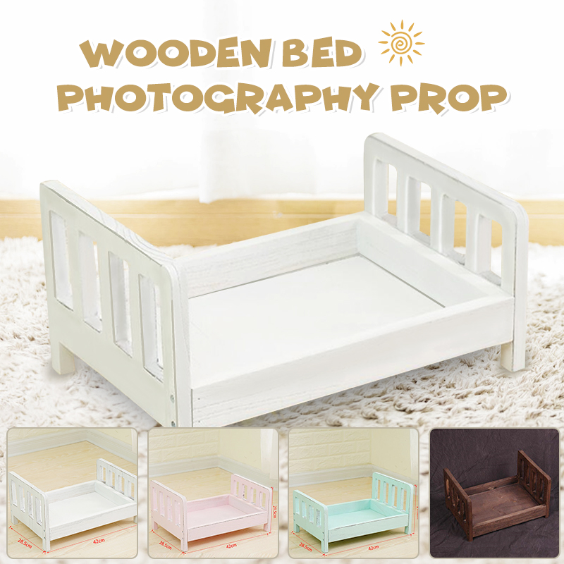 Newborn Props For Photography Wood Detachable Bed Baby Photography Background Accessories Flokati Newborn Studio Props For Shoot Walmart Canada