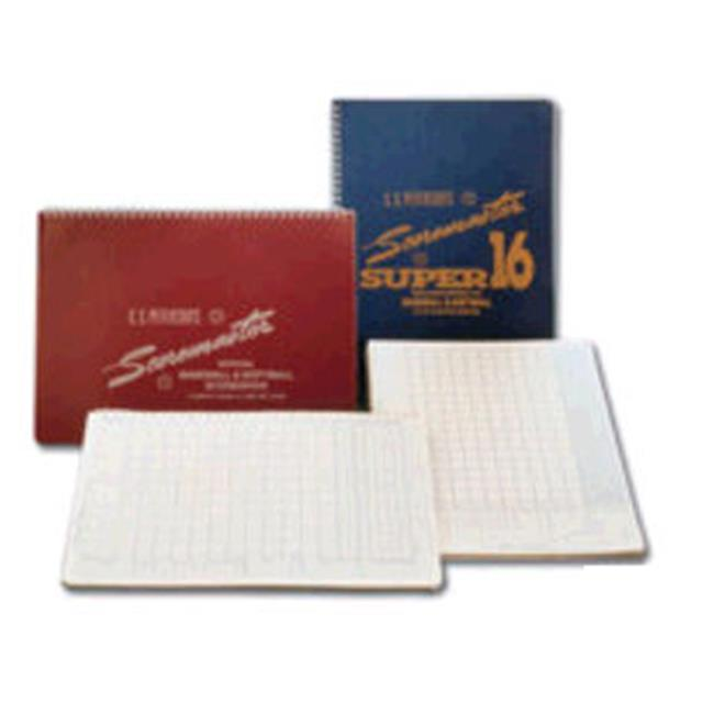 Gared Sports SS16 Petersons Baseball Super Scoremaster 16 Scorebook by Gared Sports