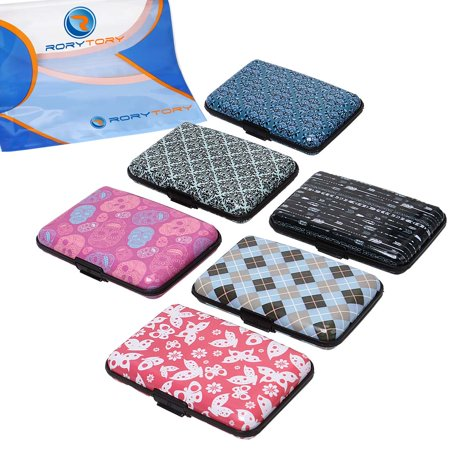 Rorytory 6Pc Rfid Protection Aluminum Credit Card Wallet Case Organizer