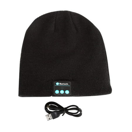 Running Winter Hat (Bluetooth Beanie Hat Headphones Wireless Headset Winter Music Speaker Hat Knit Running Cap with Stereo Speakers & Mic Unique Christmas Tech Gifts for Women Mom Her Men Teens Boys)