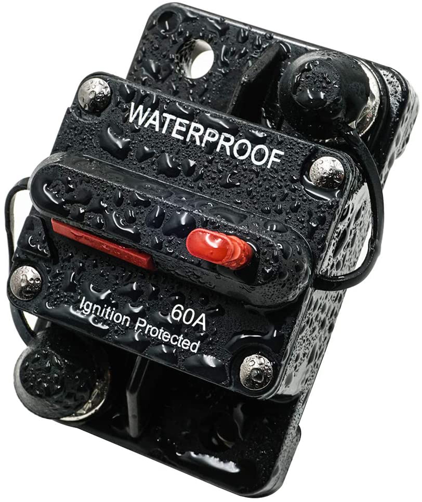 60A AMP Manual Reset Circuit Breaker Switch 12v Car Boat Power Protection